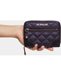 MZ Wallace - Boysenberry Oxford Crosby Small Wallet - Lyst
