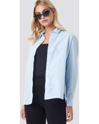 Trendyol - Loose Fit Shirt Blue - Lyst