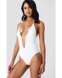 Hot Anatomy - Braided Ropes Swimsuit White - Lyst