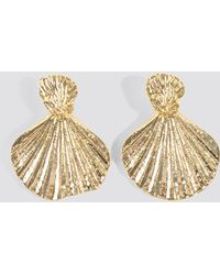 Trendyol - Sea Shell Patterned Bijouterie Earrings Gold - Lyst