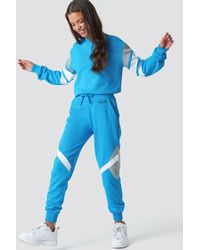 NA-KD - Multi Blocked Sweatpants Turquoise - Lyst