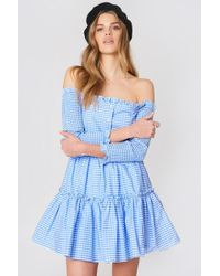 English Factory | Strapless Shirred Dress | Lyst