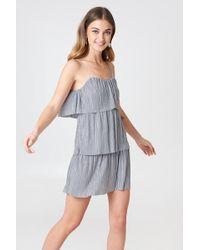 Boohoo - Tie Pleated Dress - Lyst