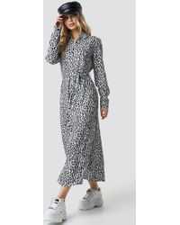 NA-KD - Leopard Printed Shirt Dress Multicolor - Lyst