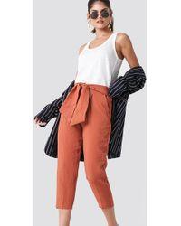 Mango - Bow Belt Trousers - Lyst