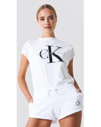 Calvin Klein - Beach Runner Short Pvh White - Lyst