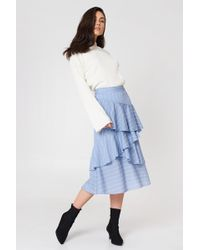 Endless Rose - Pin Striped Skirt Powder Blue Combo - Lyst