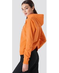 NA-KD - Back Overlap Hoodie Orange - Lyst