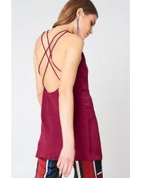 Motel Rocks - Haute Slip Dress Burgundy - Lyst