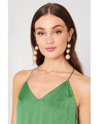 NA-KD - Royal Triple Globe Drop Earrings - Lyst