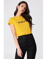 NA-KD - Darlin' Tee Strong Yellow - Lyst