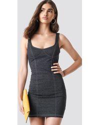 Motel Rocks - Spara Dress Denim Black - Lyst