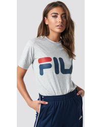 236511f31206 Fila Classic Pure Tee Light Grey Melange in Gray - Lyst
