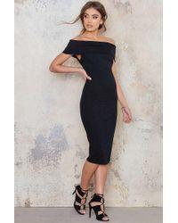 Goddiva - Multi Way Bardot Neckline Midi Dress - Lyst