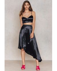 Boohoo - Wrap Skirt & Bralet Co-ord - Lyst