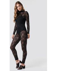Glamorous - Laced Bodysuit Black - Lyst