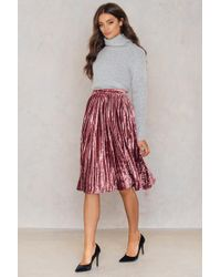 True Decadence - Velvet Ruffle Skirt - Lyst