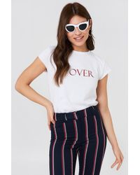 NA-KD - Lover Tee White - Lyst