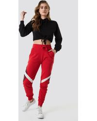 NA-KD - Multi Blocked Sweatpants Red - Lyst