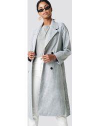 NA-KD - Plaid Long Coat - Lyst