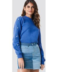 NA-KD - Pearl Sleeve Sweater - Lyst