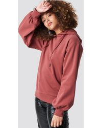 Rut&Circle - Balloon Sleeve Sweatshirt Old Rose - Lyst
