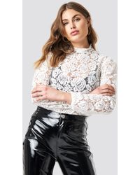 c53cdd78f254d9 Exclusive For Intermix Geneva Crepe Blouse in White - Lyst