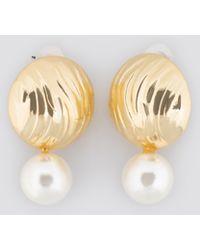 Trendyol - Yol Pearl Earring Gold - Lyst