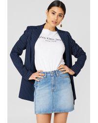 Calvin Klein - Mini Skirt Vertical Light Vertical - Lyst