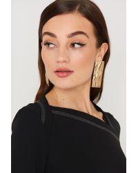 Mango - Embossed Earring - Lyst