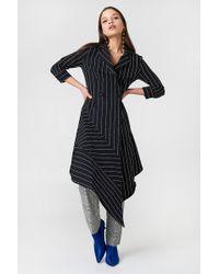 Trendyol - Stripe Asymmetrical Dress - Lyst