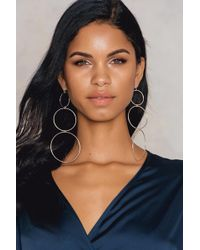 NA-KD - Hanging Circles Earrings - Lyst