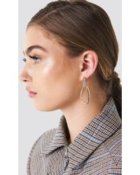 NA-KD - Embellished Asymmetric Oval Earrings - Lyst