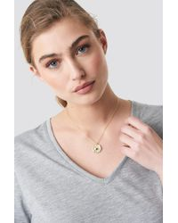 NA-KD - Structured Zodiac Cancer Necklace Gold - Lyst