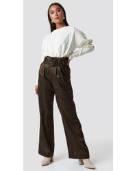 Gestuz - Strika Trousers Brown Stribe - Lyst