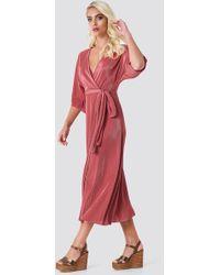 Rut&Circle - Lola Plisse Kimono Rose Pink - Lyst