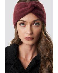 Rut&Circle - Wrinkle Knit Headband Wine Red - Lyst
