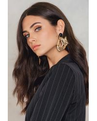 NA-KD - Big Asymmetric Earrings - Lyst