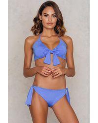 Lavish Alice - Tie Side Bikini Bottoms Blue - Lyst