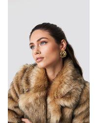 Trendyol - Gold Knot Earrings - Lyst