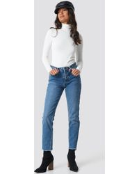 Rut&Circle - Louisa Raw Hem Jeans Mid Blue - Lyst