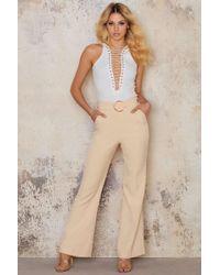 Lavish Alice - Oversized D-ring Belt Tailored Flares - Lyst