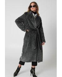 Lavish Alice - Double Breasted Faux Fur Coat - Lyst