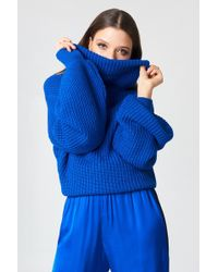 NA-KD - High Neck Oversized Knitted Sweater - Lyst