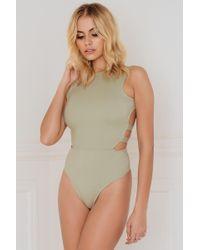 Evaliah Grace - Adeline Backless Bodysuit - Lyst