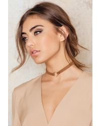 NA-KD | One Ring Leather Choker | Lyst