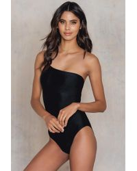 NA-KD - One Shoulder Thin Strap Swimsut - Lyst