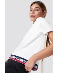 Levi's - Graphic Jv Tape Tee White - Lyst