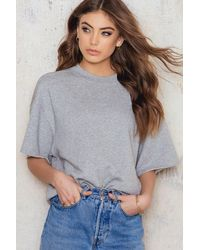 Filippa K - Short Sleeve Sweatshirt - Lyst