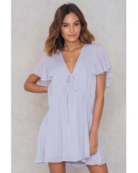 English Factory | Ruffled Gathering Dress | Lyst